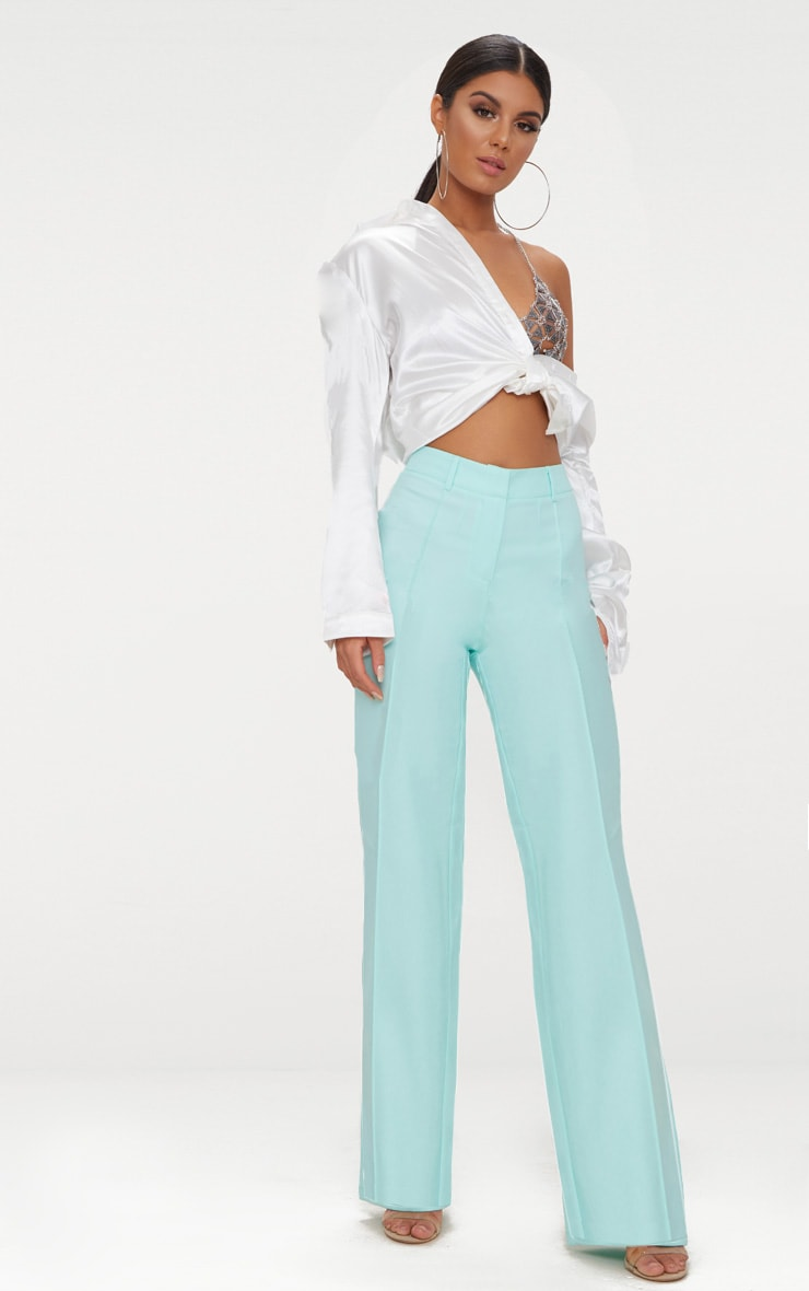 Mint High Waisted Straight Leg Pants 1