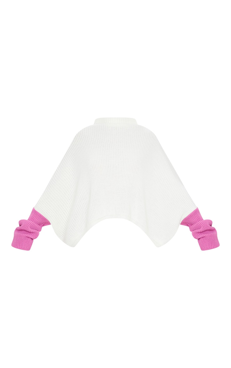Lilac Oversized Color Block Sweater 5