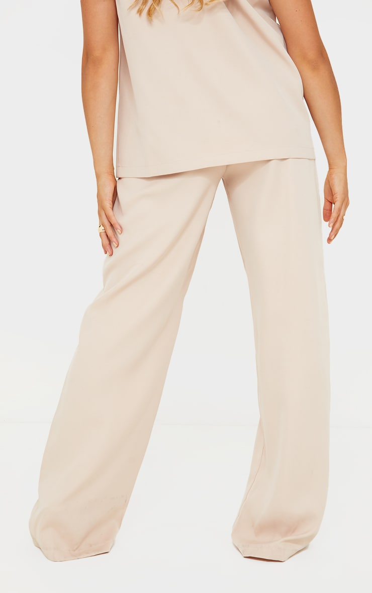 Maternity Cream Belly Band Suit Trousers 3