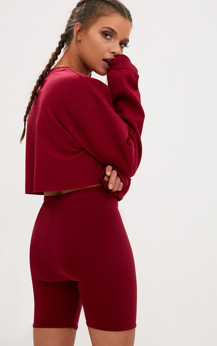 Maroon Ultimate Cropped Sweater 2