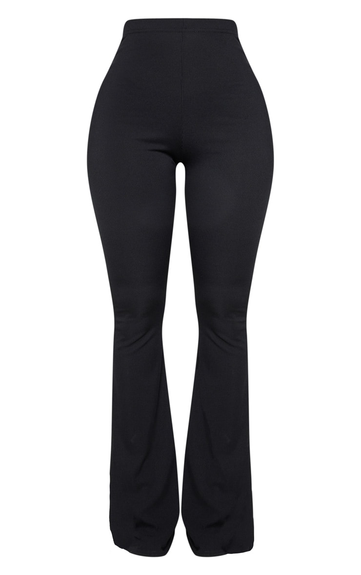 Shape Black Ribbed Flared Pants 3