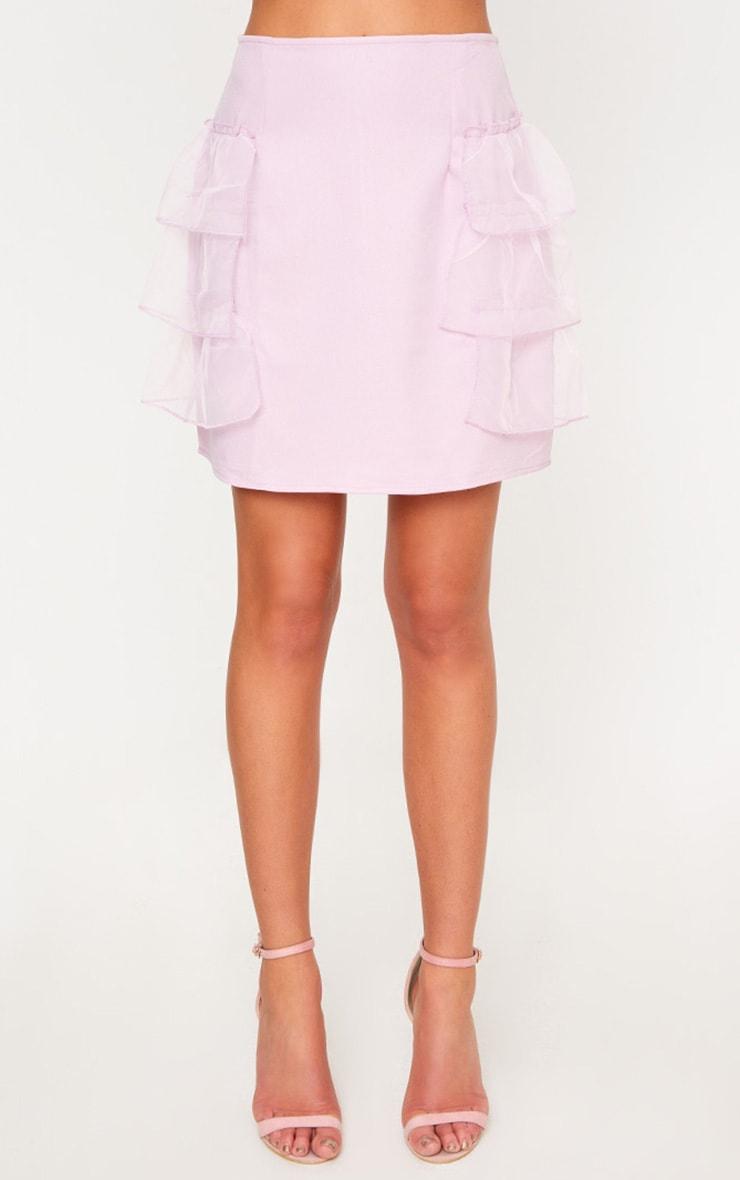Lilac Tulle Tier Mini Skirt 2