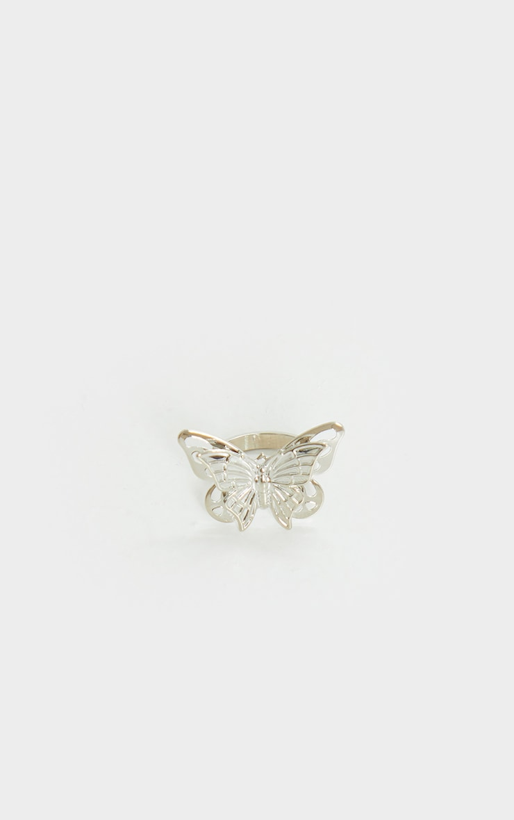 Silver Butterfly Ring 2