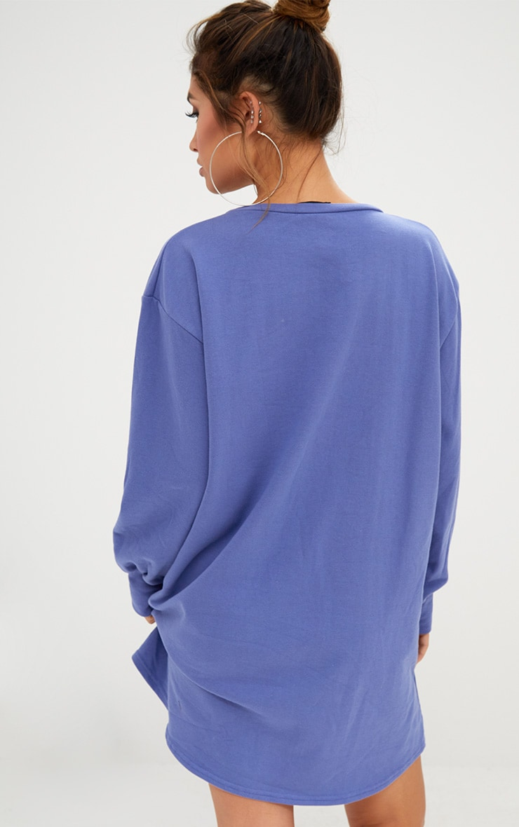 Robe sweat oversized bleue 2