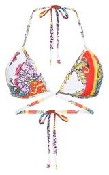 fe441e3b3ca94 White Wrap Over Printed Bikini Top image 3