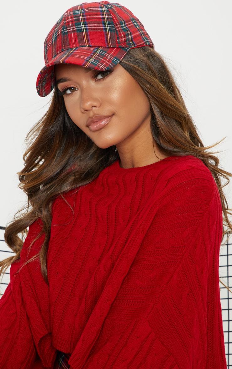Red Tartan Cap 1