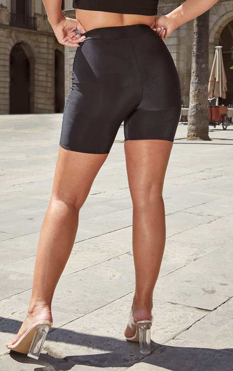 Petite Black High Waist Cycling Shorts 4