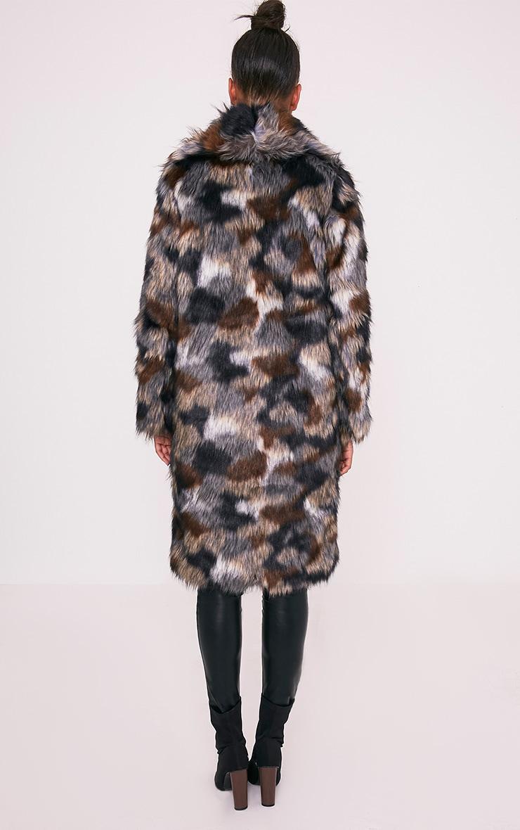 Gerorgana Multi Longline Faux Fur Coat 2