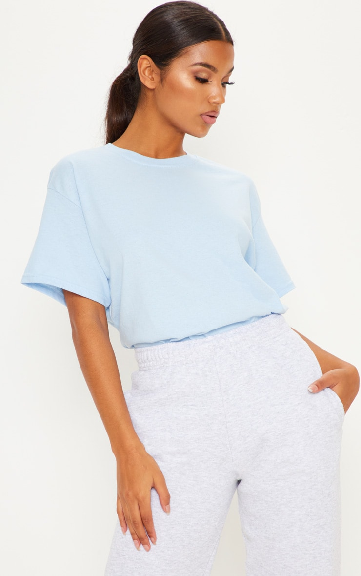 Ultimate Light Blue Oversized T Shirt 1