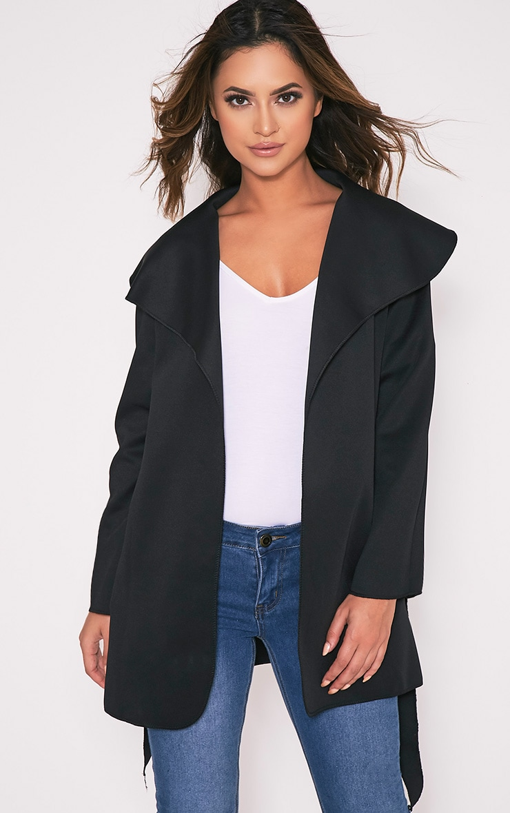 Bekah Black Scuba Waterfall Jacket 1