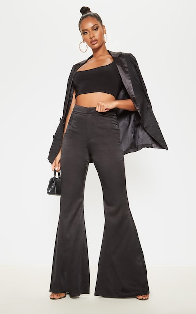 Black Tailored Extreme Flared Trouser