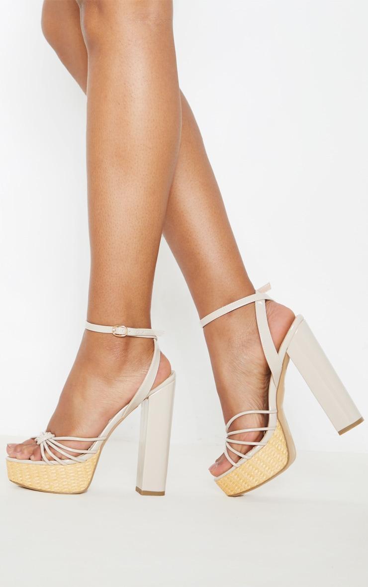 Nude Raffia Platform Sandal 1