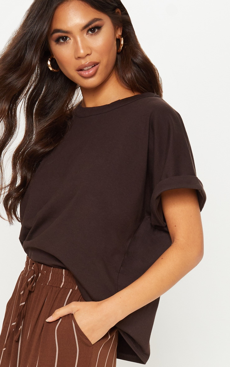 Chocolate Low Arm T Shirt 5
