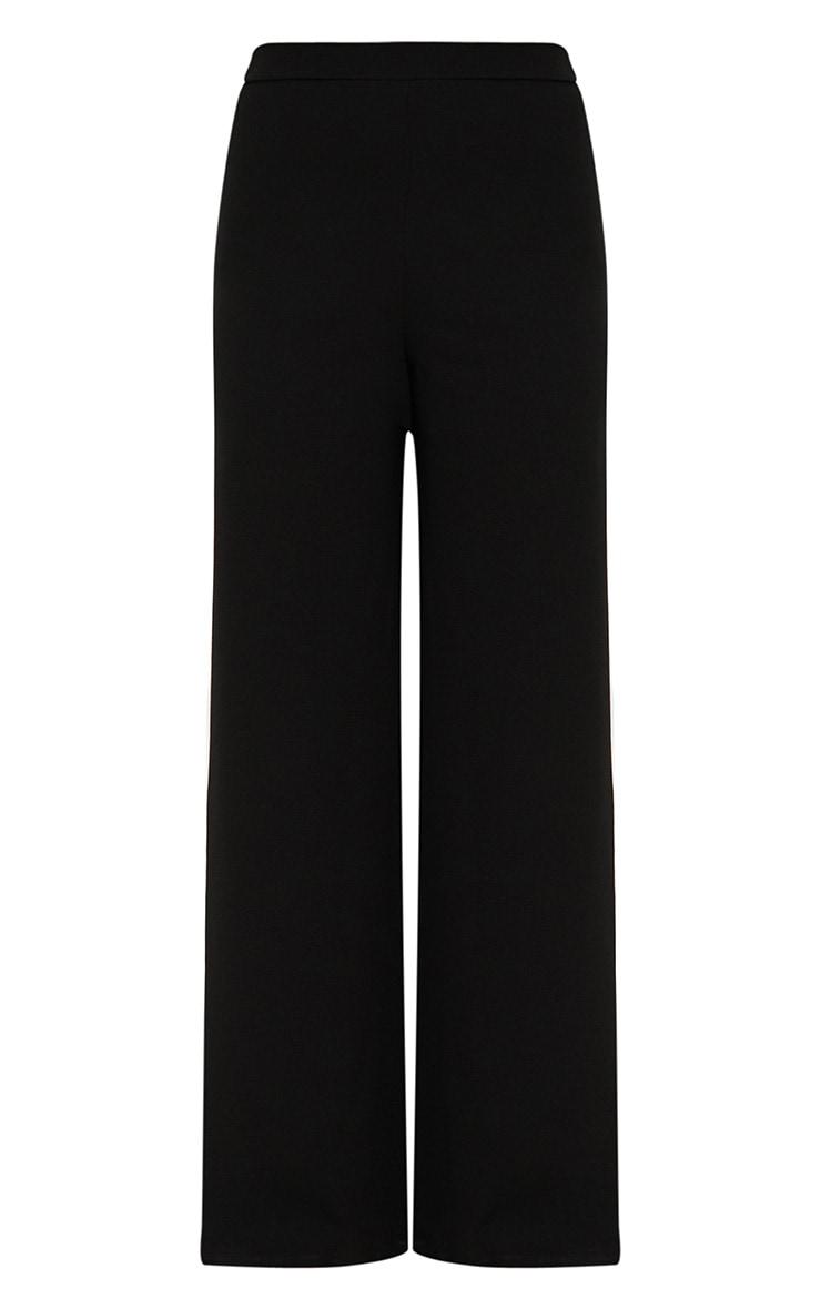 Black Zip Split Wide Leg Track Pants 3