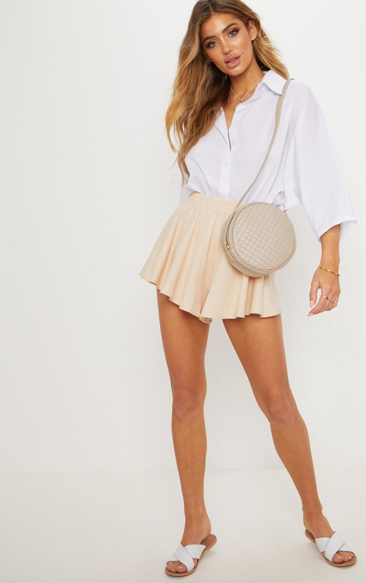 Cream Floaty Shorts 1