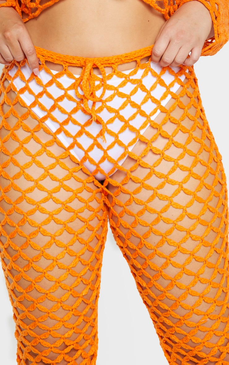 Plus Orange Crochet Flares 5