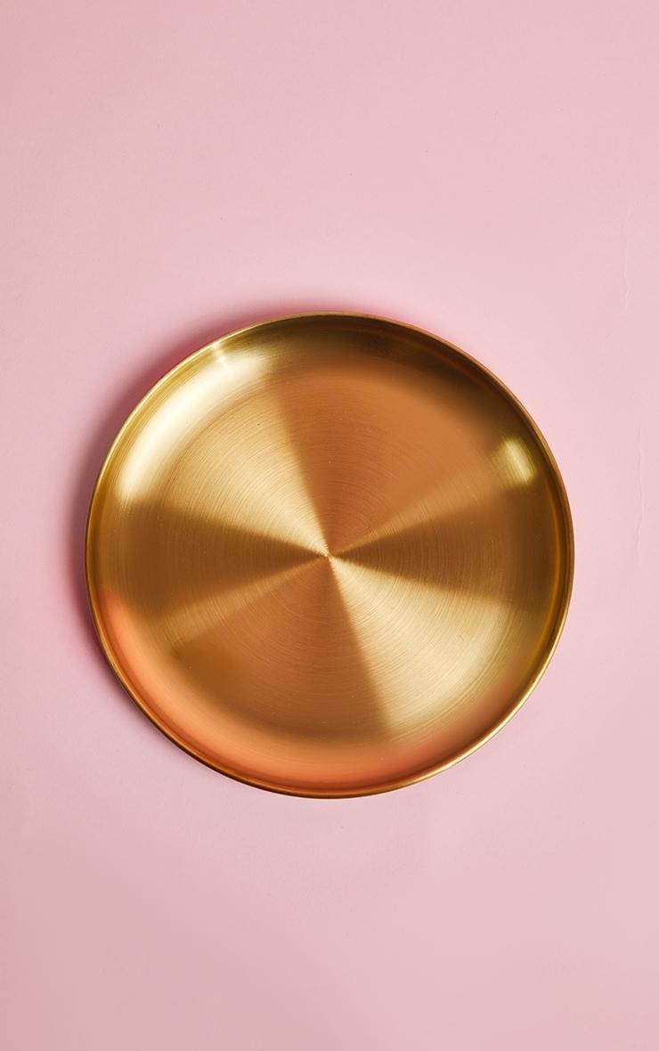 PLT Home - Grandes assiettes dorées métallisées 3