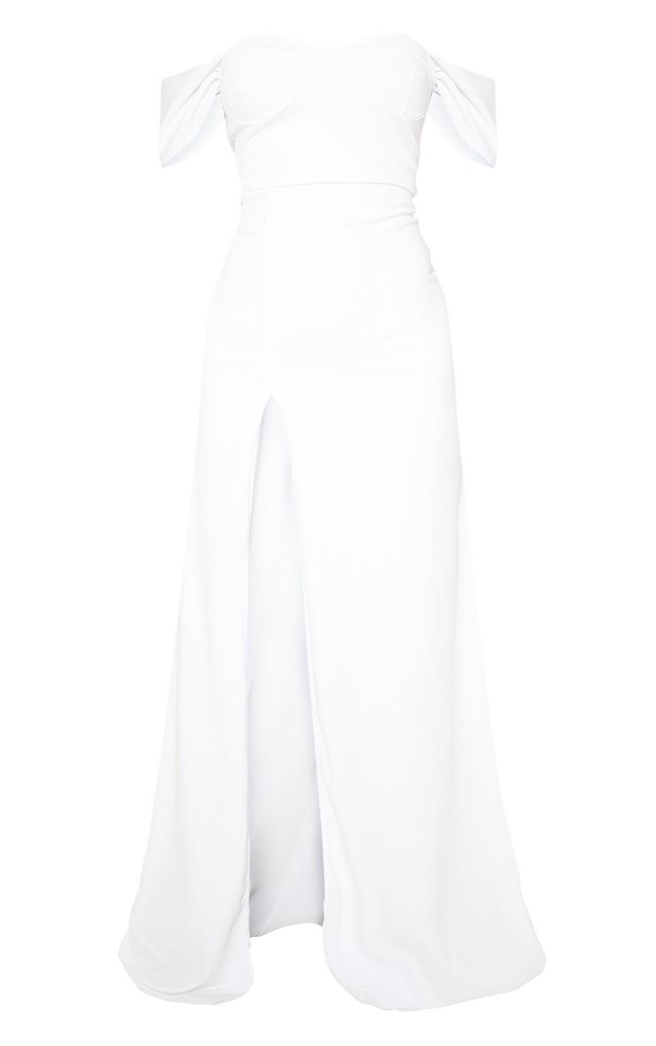 White Cup Detail Maxi Dress 3