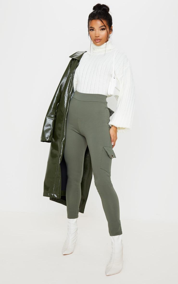 Khaki Scuba Pocket Detail Cargo Trouser 1