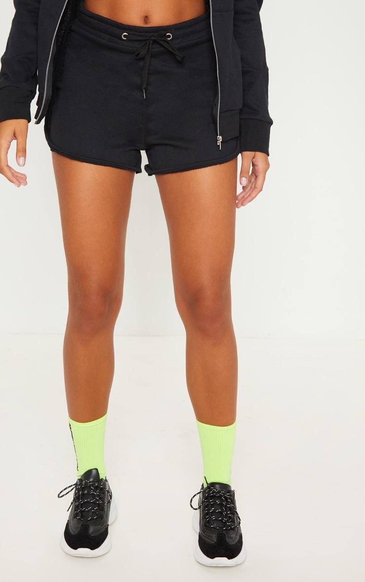 Black Basic Gym Sweat Short 2