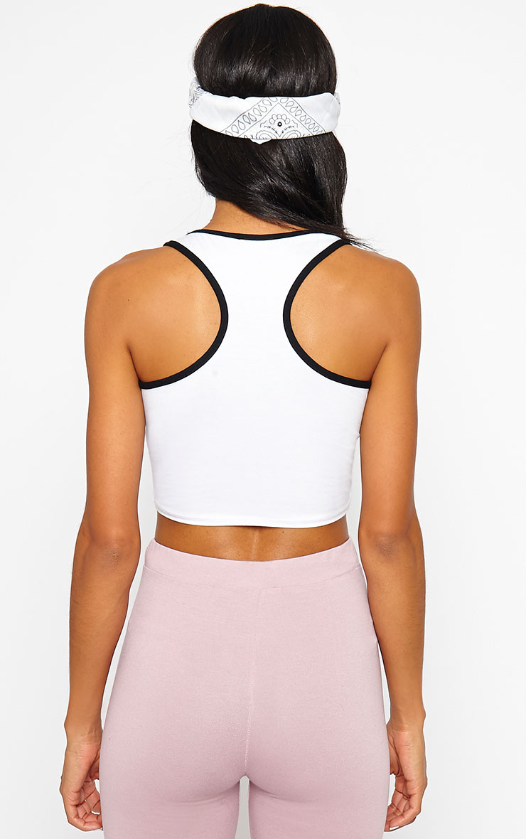 Aubree White Hollywood Crop Top 3