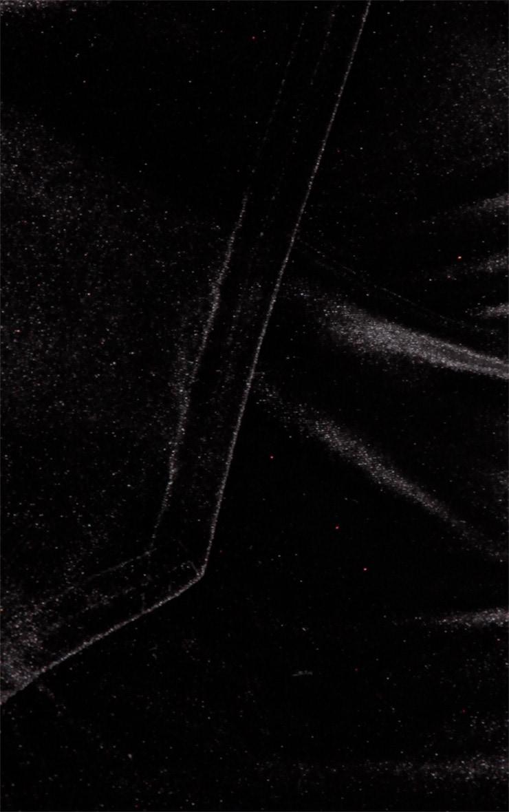 Teresa Black Velvet Skort 3