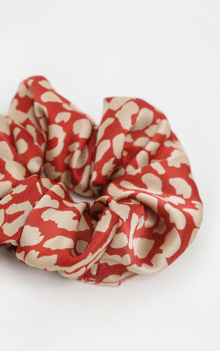 Rust Animal Printed Scrunchie 3