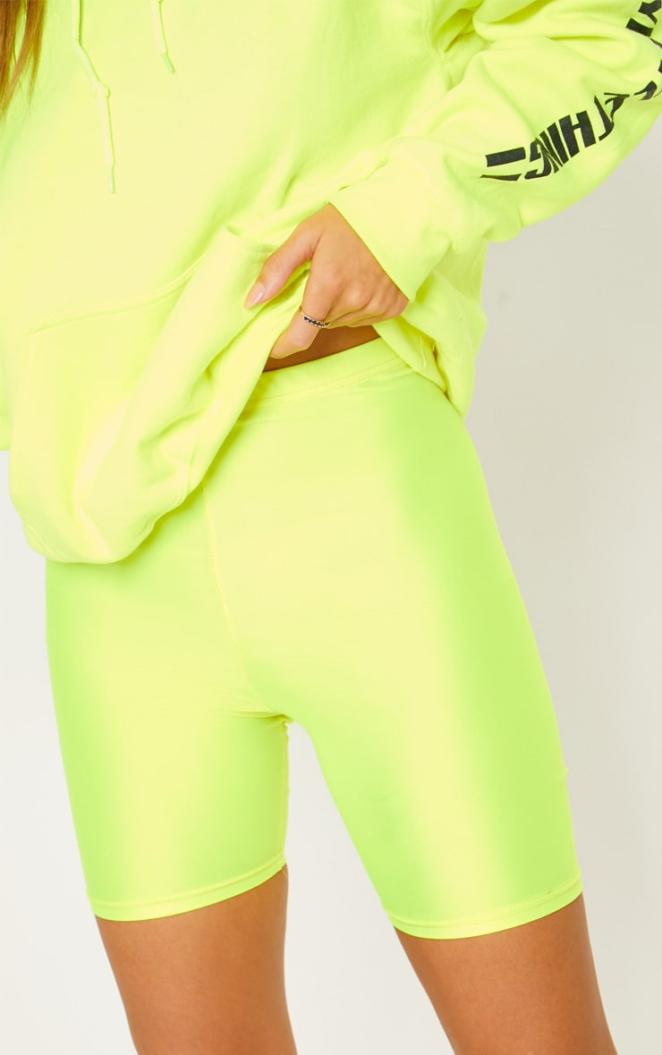 Short legging jaune fluo 7