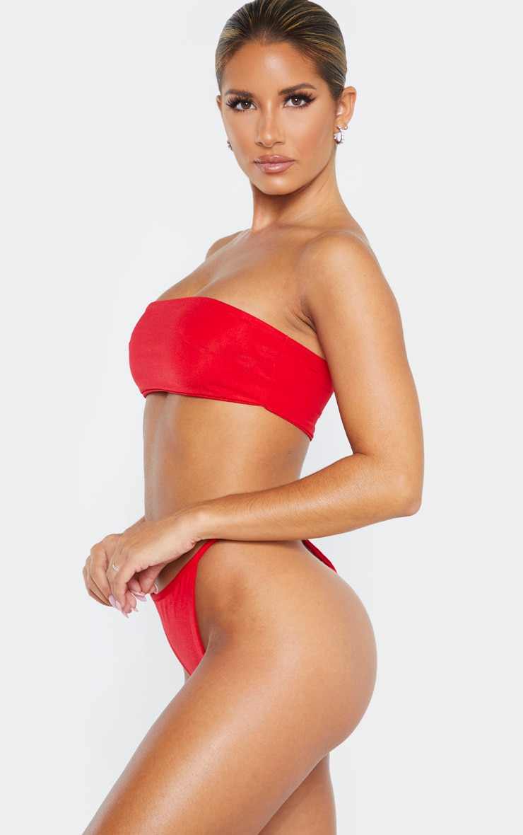 Red Mix & Match String Thong Bikini Bottom 3