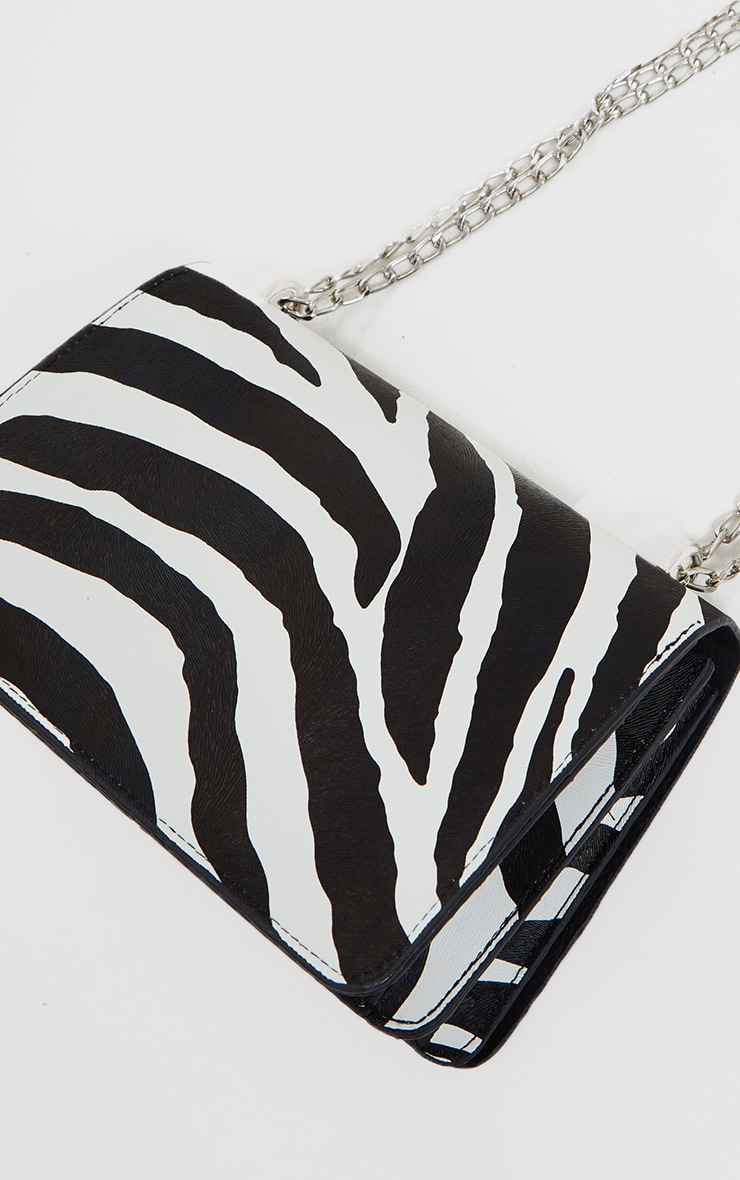 Black Zebra Cross Body Bag 4