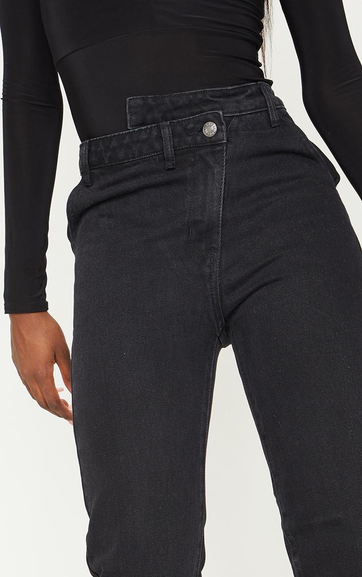 Tall - Jean noir profond à taille asymétrique 4