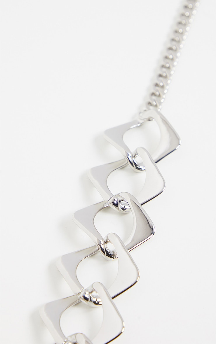Silver Chunky Link Chain Necklace 3