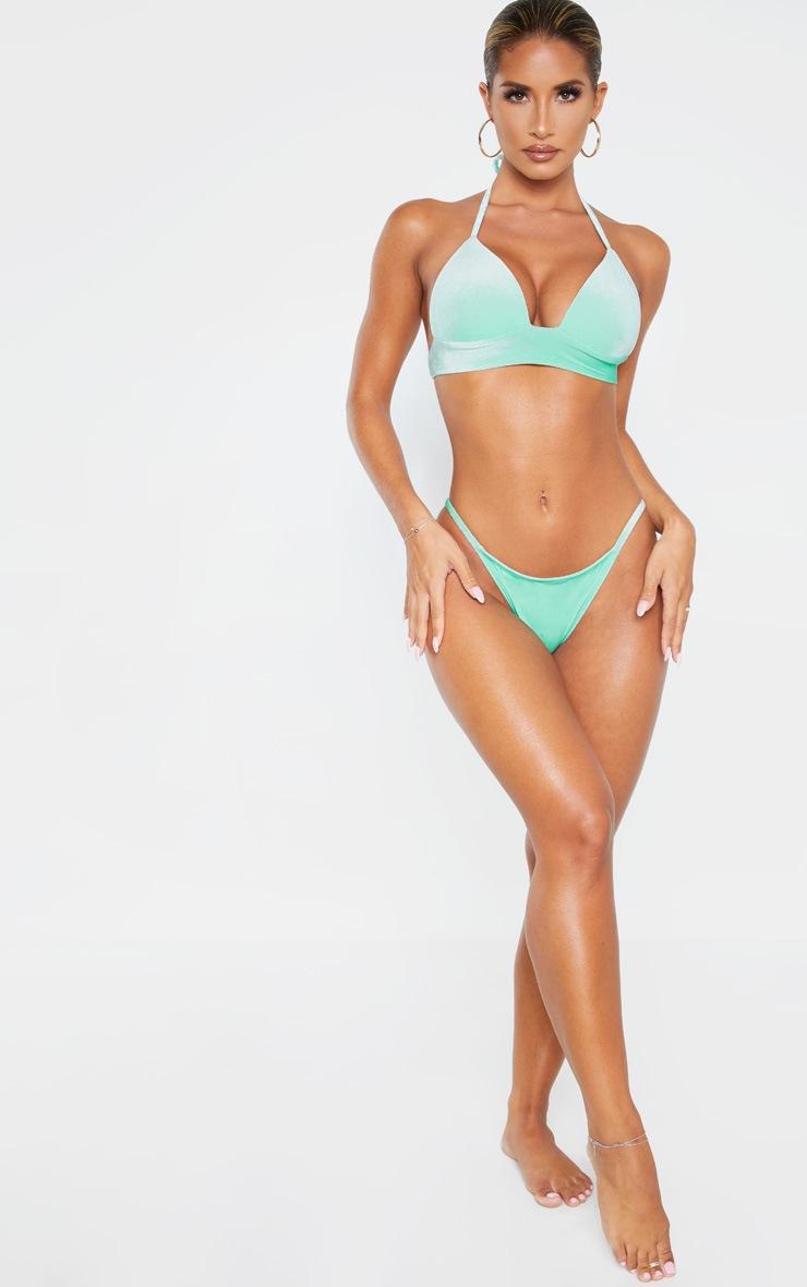 Green Velvet Tanga Bikini Bottom 4