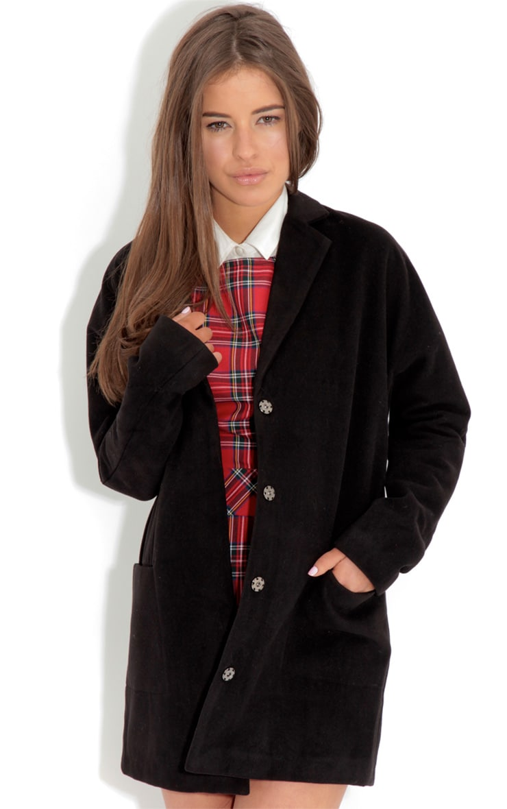 Andrej Black Oversized Boyfriend Coat-16 1