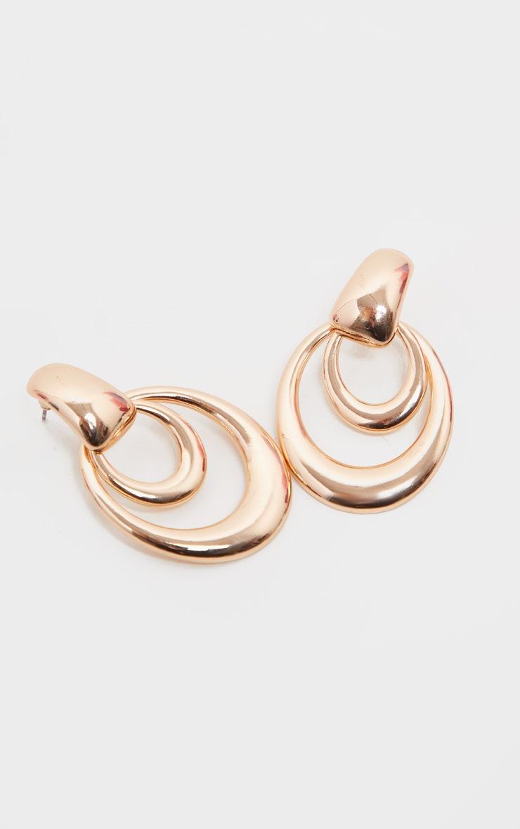 Boucle d'oreilles double ovales pendantes 3
