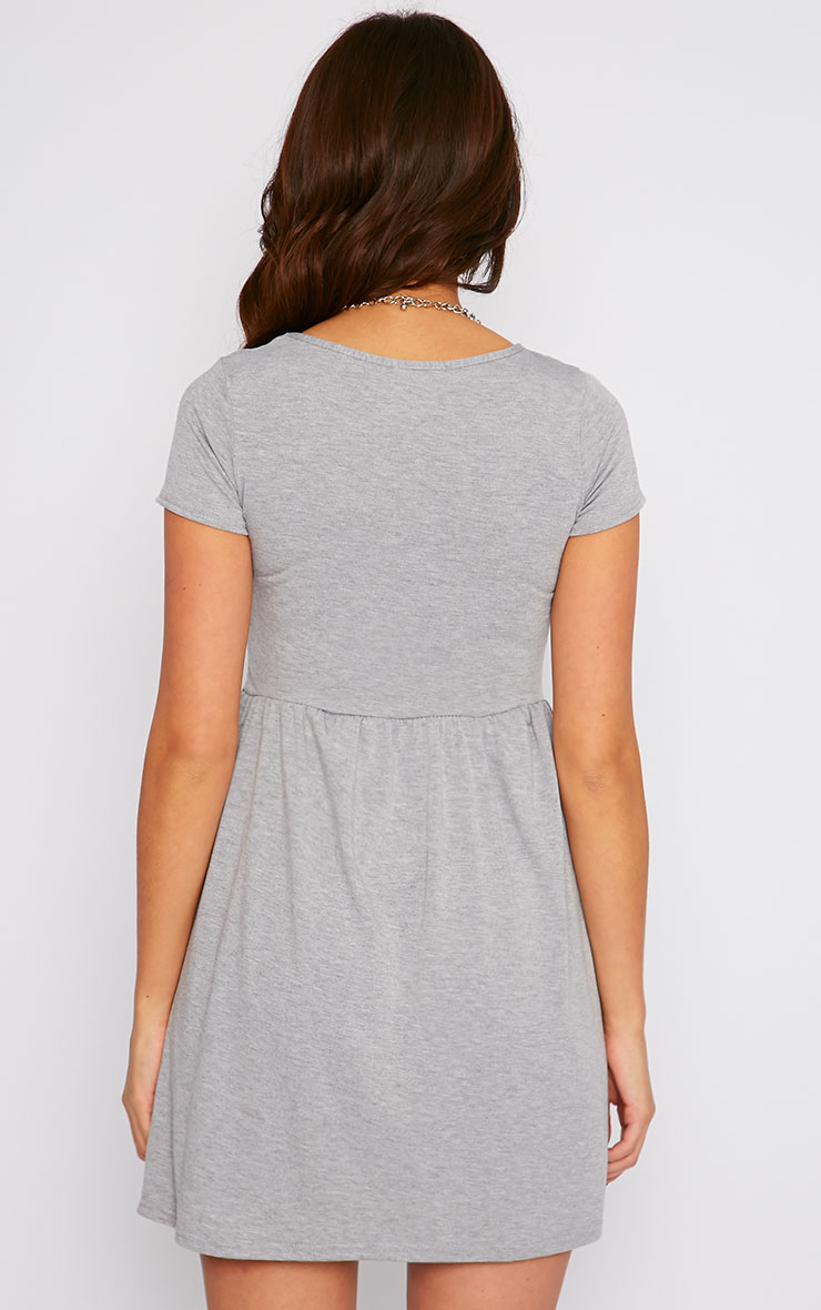 Basic Grey Skater Dress 2