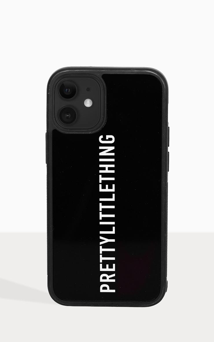 PRETTYLITTLETHING Black Logo iPhone 12 Mini Phone Case 2