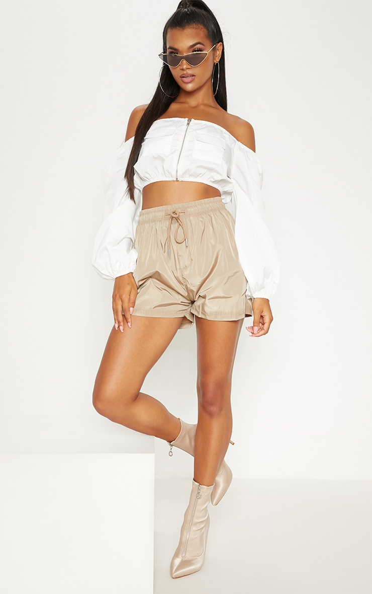 Taupe Shell Short