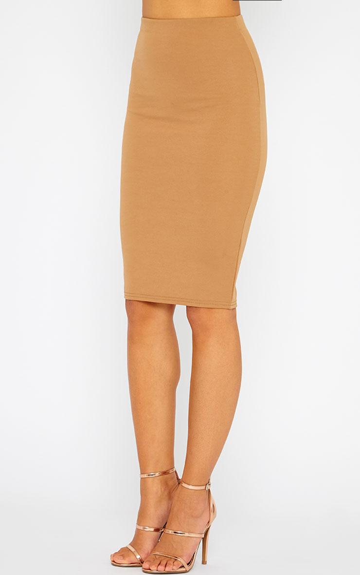 Winnie Mocha Scuba Midi Skirt 3