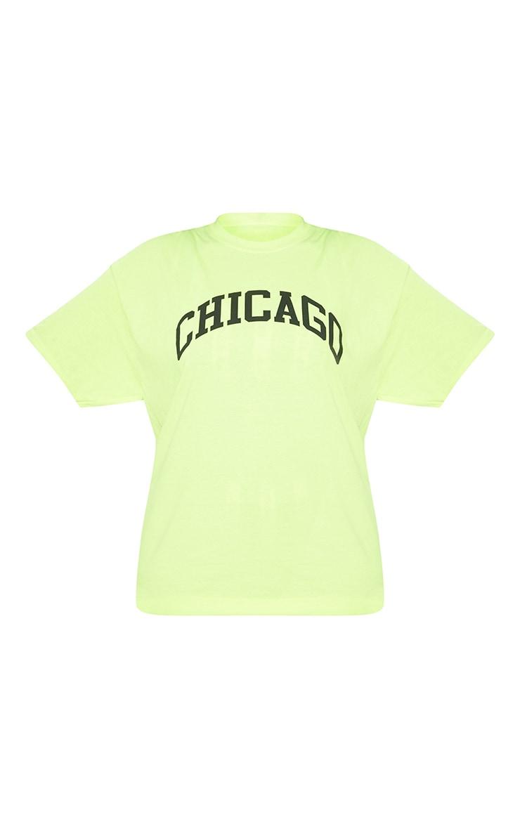 Plus Yellow Chicago Slogan T Shirt 3
