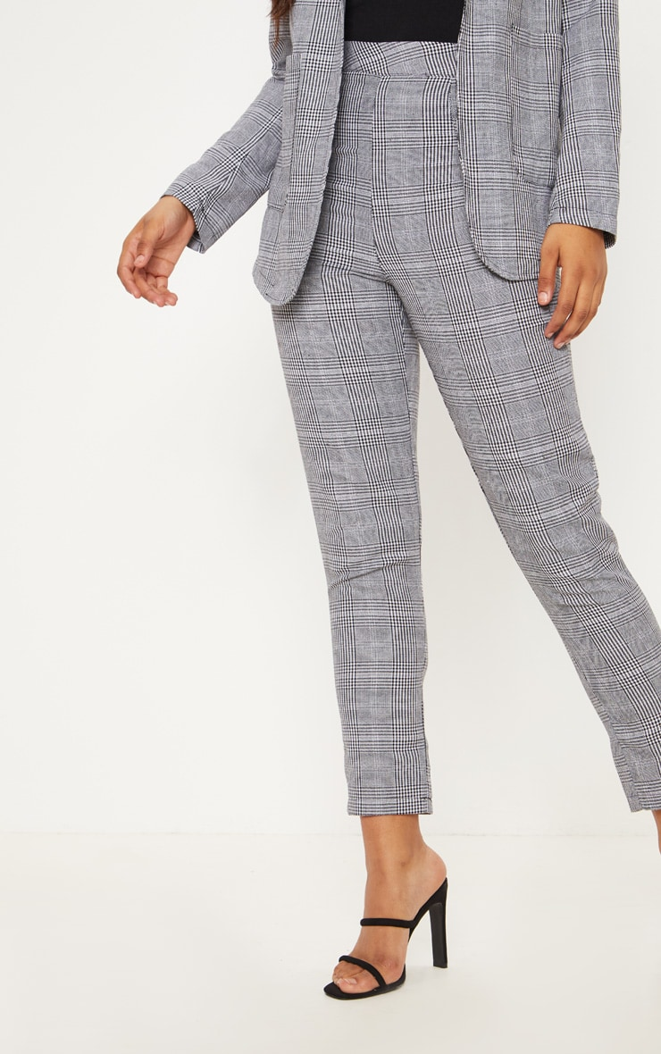 Tall Grey Checked Pants 2
