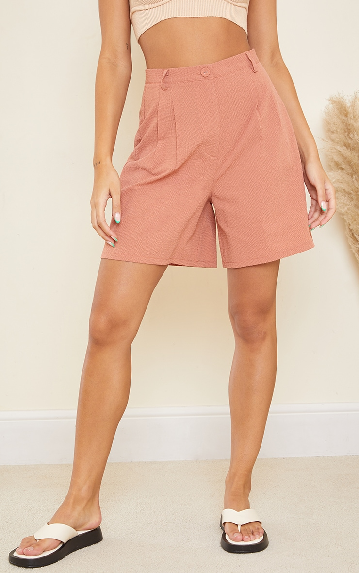Clay Textured Woven Tailored Shorts 2