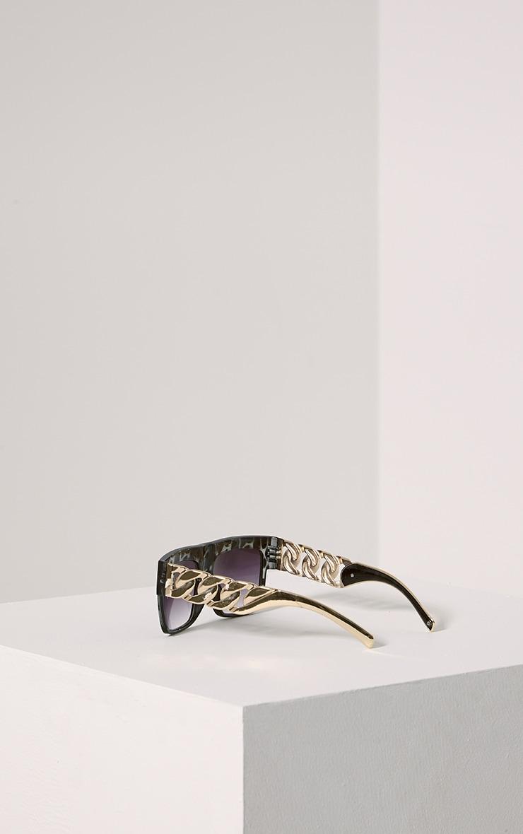 Nora Grey Leopard Chain Sunglasses 2