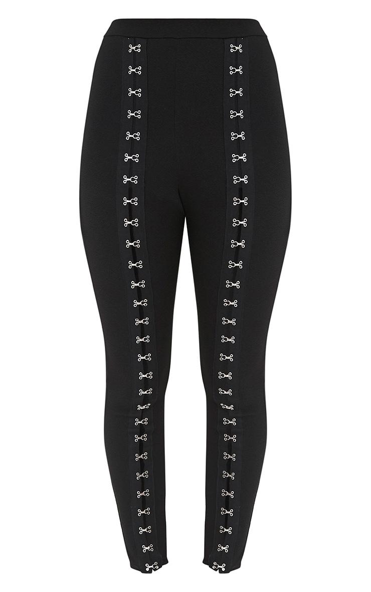 Black Full Hook & Eye Skinny Pants 3