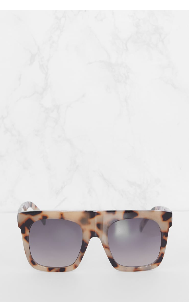 Leopard Print Wide Frame Square Sunglasses 2
