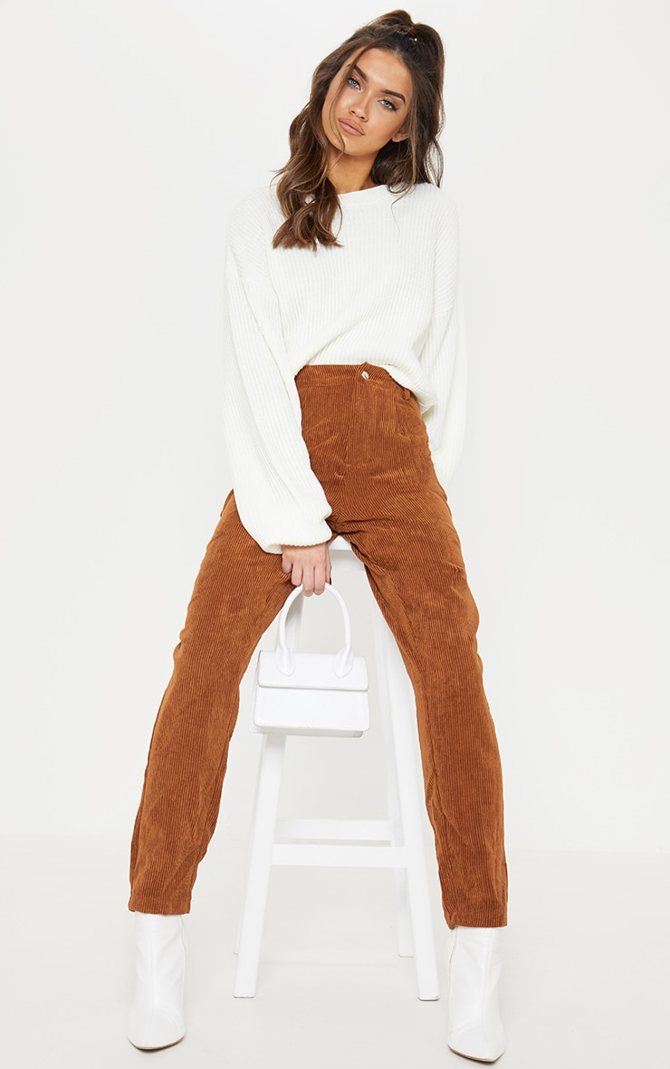 Cream Wide Sleeve Knitted Sweater  5