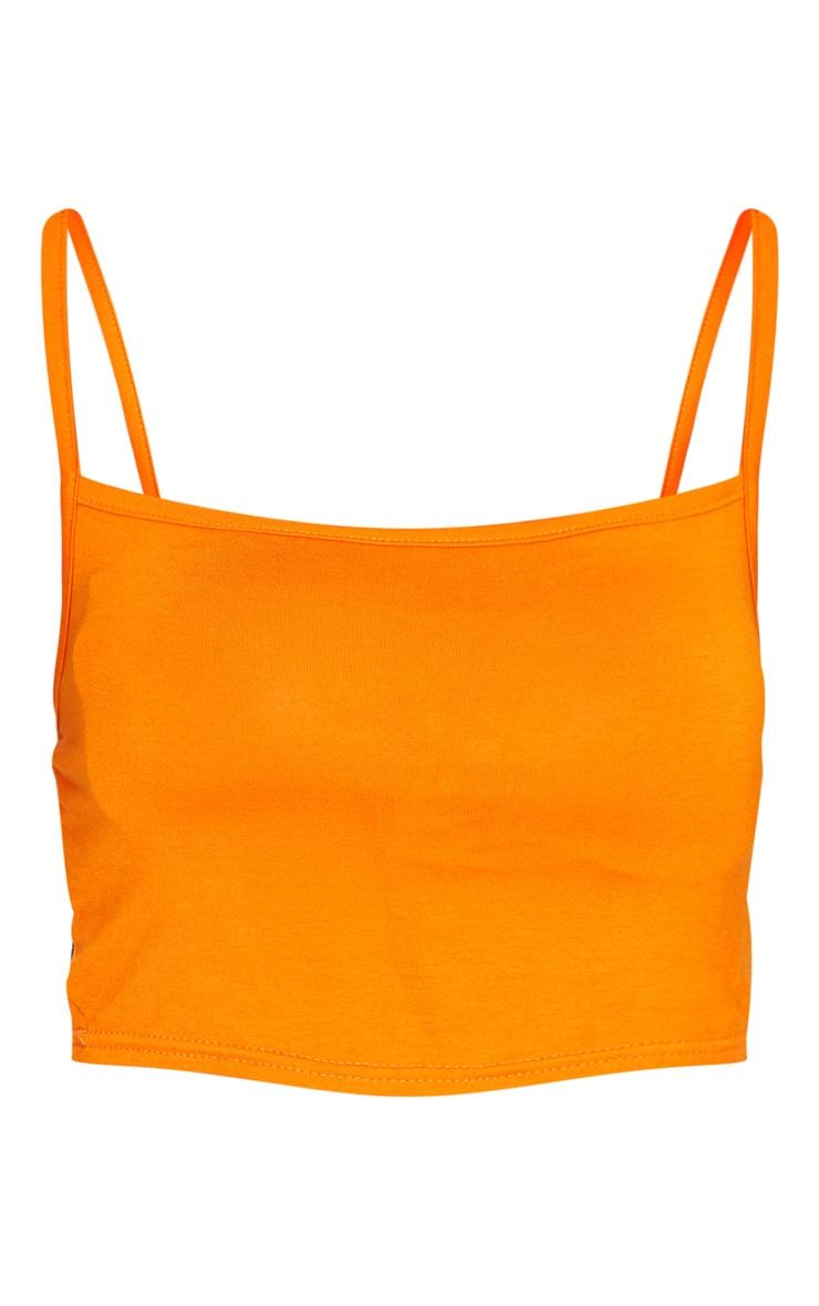 Orange Strappy Jersey Crop Top 6