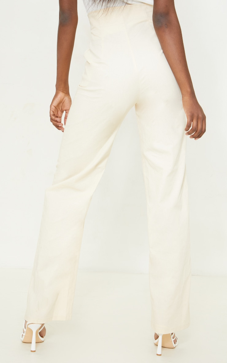 Tall Stone High Waisted Seam Detail Trousers 3