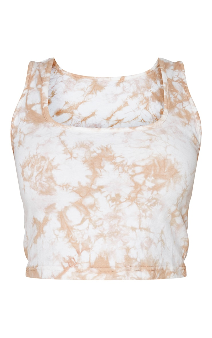 Plus Stone Tie Dye Cotton Crop Top 3