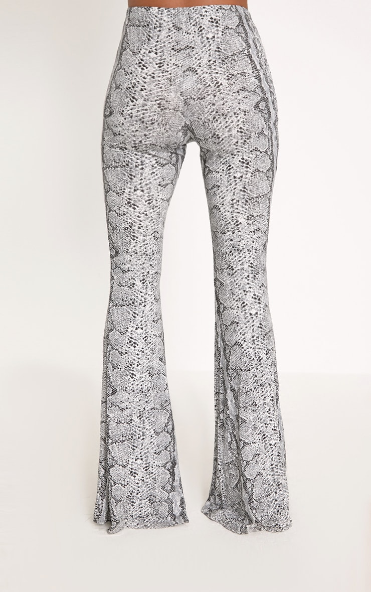Madilyn Snake Print Flared Trousers 4